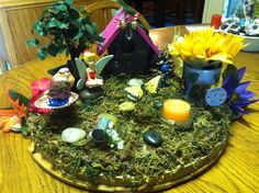Made my mom an indoor fairy garden -- she had no idea and she loved it!! :D
