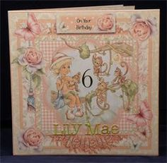 Hanging Around. 8 x 8 decoupaged card. Available from: www.therhodaharveycollection.co.uk