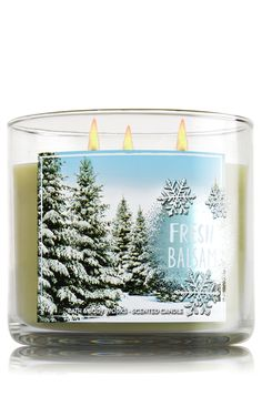 Fresh Balsam 3-Wick Candle - Home Fragrance 1037181 - Bath & Body Works