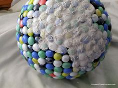How to mosaic a bowling ball with pics