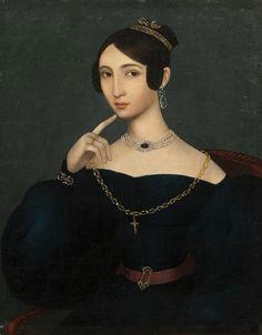 Неизвестный художник. Портрет Е.Г. Нечволодовой. Конец 1830-х гг.