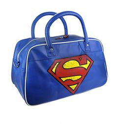Retro Superman Logo PU Weekend Bag : TruffleShuffle.com