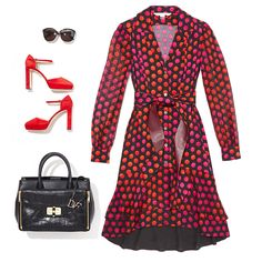 Desk to dinner: the Catherine shirtdress http://on.dvf.com/1FrqEd0 #SEDUCTIONxDVF