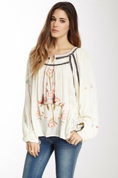 Free People Tiger Lily Peasant Shirt by Free People on @HauteLook