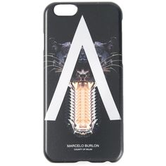 Marcelo Burlon County Of Milan black panther iPhone 6 case (€56) ❤ liked on Polyvore featuring accessories, tech accessories and black