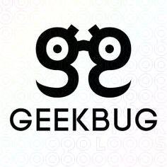 Exclusive Customizable Bug Glasses Logo For Sale: Geek Bug | StockLogos.com