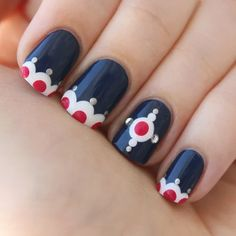 Cute design that can be done entirely with dotting tools.   Sumally
