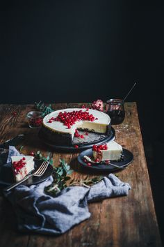 Mascarpone Cheesecake with Pomegranate Syrup — The Broken Bread