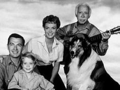 """Lassie and his famous TV Family  The Lassie TV show was a drama series that went through several transitions during its 20 years on the air. It began with the beautiful collie living on a small farm with its young master Jeff Miller, Jeff's widowed mother and grandfather. In the spring of 1957, an orphan boy named Timmy joined the Miller household..."""
