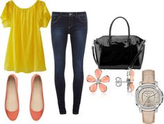 """#54 yellow day"" by jamie-s26 on Polyvore"