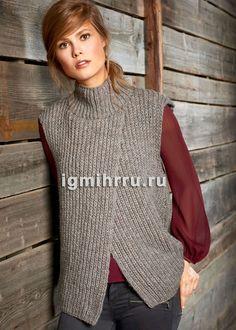 Lana Grossa Knitting Pattern - Model Package VEST Alta Moda Alpaca (Design FILATI No. 52 (fall/winter - Knitting instructions (EN)) - - order now online Crochet Woman, Knit Crochet, Stylish Waistcoats, Trendy Outfits, Cute Outfits, Modest Fashion, Fashion Outfits, Knit Vest Pattern, Pulls