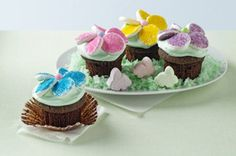 BAKERS ONE BOWL Flower Garden Cupcakes recipe - Who doesn't like getting flowers? Especially when they're actually rich, chocolatey cupcakes. Use just one bowl for less mess and more time to enjoy the party!