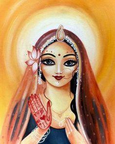 Radha by shyamaramaniart Pichwai Paintings, Indian Art Paintings, Lord Shiva Painting, Krishna Painting, Lord Krishna Images, Radha Krishna Pictures, Radha Rani, Krishna Radha, Shiva Art