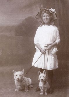 Westie Note Card with Vintage Photograph