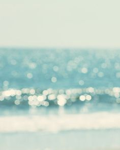 beach photography, nautical decor, abstract, bokeh photography, beach cottage, aqua blue, wall art, coastal decor, fine art print