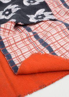 Bufanda estampado combinado