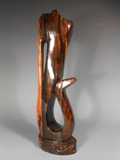 Sculpture: #FreeShipping Fine Hard Wood Carving Of A Howling Monkey? Or Other Animal Ca. 20Th Century
