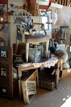 Vintage Junky's Booth at Bella Rustica Barn Show | Flickr - Photo Sharing!