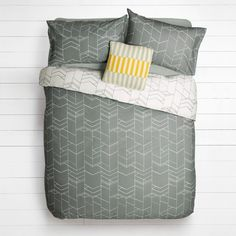 Buy House by John Lewis Elevation Duvet Cover and Pillowcase Set, Smoke Online at johnlewis.com
