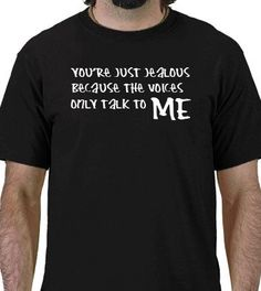 THE VOICES ONLY TALK TO ME Funny Geek T-Shirt ADULT SMALL Shirt - http://www.scribd.com/doc/268872865/