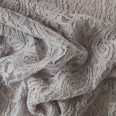Grey Viscose Nylon Spandex Lace Fabric   Guthrie & Ghani