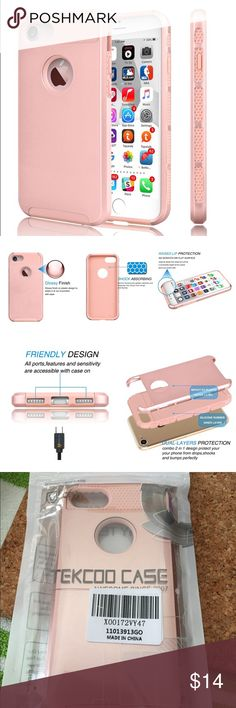 iPhone 7 case bundle Brand new light pink iPhone 7 case comes with 1 tempered glass screen protector Accessories Phone Cases