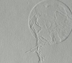 """""""Solitude"""" An embossed print edition on fine paper. The type of mark making on this print is more generally known as embossing, a process of printmaking that creates raised and depressed. Fine Paper, Paper Art, Collagraph, Mark Making, Solitude, Printmaking, How To Draw Hands, Carving, Depressed"""