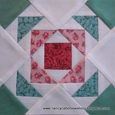 "The Rambler 6"" quilt block pattern by Nancy Cabot at Moore About Nancy blog"