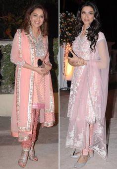 Madhuri & Deepika pink Salwar Kameez