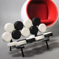 Although these are mid-century, they still make a bold, #modern statement. Eero Aarnio - Design Classics