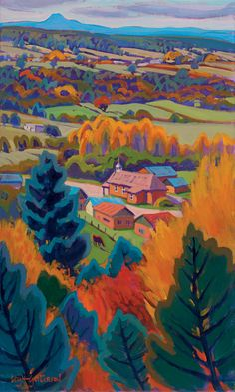 Leigh Gusterson – paintings Heart of Rodarte II