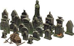 Graveyard! 20 Euro (~$30) 23 x tombstone 1 x graveyard statue 3 x tools (shovel, pick and a hoe) 1 x coffin 2 x stone gargoyle 7 x crow