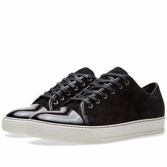 LANVIN Patent Leather Cap Toe New Low-top Men's Sneakers Shoes 11 (12) NIB $575  #Lanvin #FashionSneakers