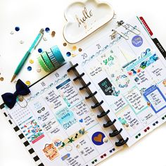 Coastline Shopvillabeautifful planner kit featuring nautical/beach planner stickers