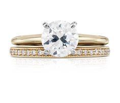 Petite bague en diamants sertis pavé bijou de famille en or jaune 18carats…