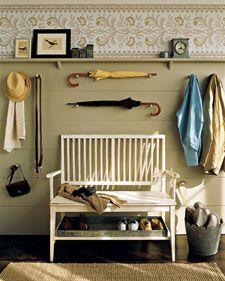 """Déco : créez une entrée """"cottage"""" pour une ambiance maison de campagne."""