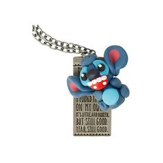 Disney Lilo & Stitch Quote Necklace | Hot Topic ($11) ❤ liked on Polyvore featuring jewelry, necklaces, disney jewelry, disney and disney necklace