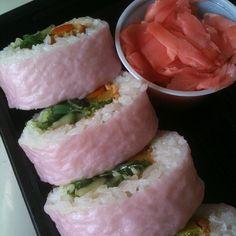 Pink Sushie Vegan Roll by jnoriko, via Flickr