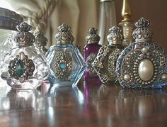 love crystal antique perfume bottles