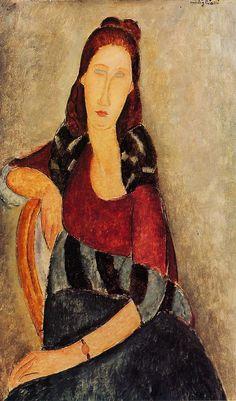 Portrait of Jeanne Hebuterne, 1919, by Amedeo Modigliani (Italian, 1884 -1920)