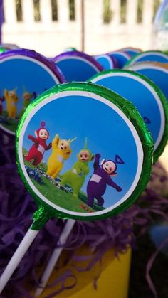 Teletubbies Chocolate Lollies