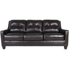 AFW | Mahogany Leather Sofa by Ashley Furniture, 5910538
