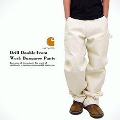 HUGE | Rakuten Global Market: Durable drill Double Front Work Dungaree Pant (B04) men's Carhartt white bread workpants painter pants dress up fashion large size dresses