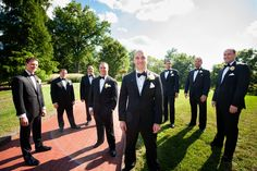 Gregg & Kim's Wedding, bridal party, groom with groomsmen, Oglebay Resort