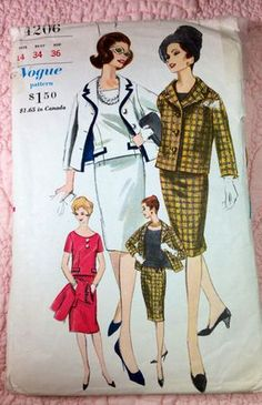 Vintage Vogue Classic Suit and Blouse Pattern by ProctorCreations