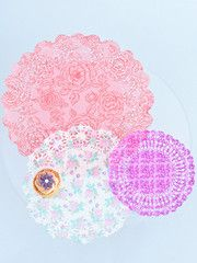 Floral doilies