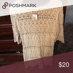 Very cute top from TJ max brand new Cream new top from TJ max pd $35 Tops