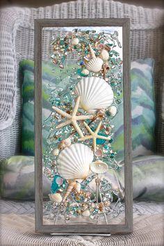 #BeachBathroom, #BathroomDecor, #WallHanging, #CoastalWallArt, #ShellArt, #BeachDecor, #SeashellArt, #Starfish, #CoastalDecor, #RobinIngles, #SeasideCreations