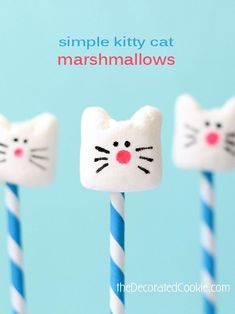 simple kitty cat marshmallows #CatParty