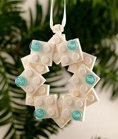 LEGO® Snowflake Ornament White Christmas by BrickandButton Lego Christmas Ornaments, 3d Christmas, Christmas Decorations, Tree Decorations, Christmas Mantles, Christmas Villages, Victorian Christmas, Vintage Christmas, Casa Lego